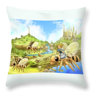 Flight Over Capira Throw Pillow