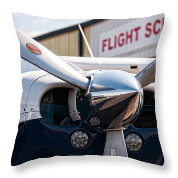 Flight School Throw Pillow