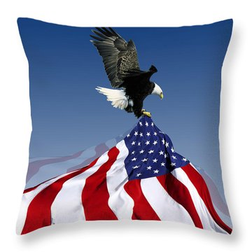 Flight To Freedom Throw Pillow by Filippo B