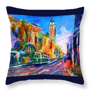 Flinders Street - Original Sold Throw Pillow
