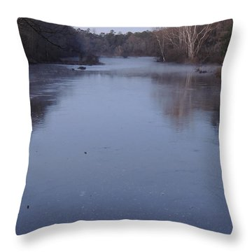 Throw Pillow featuring the photograph Flint River 1 by Kim Pate