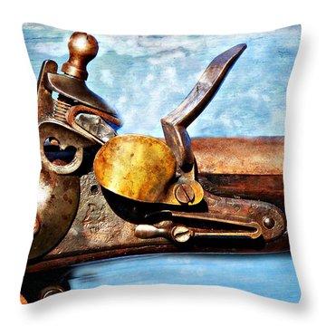 Flintlock Throw Pillow by Marty Koch
