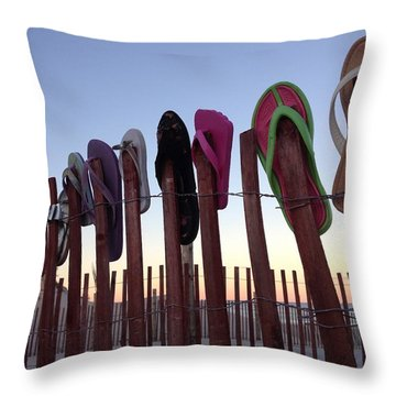 Flip Flop Lost And Found Throw Pillow