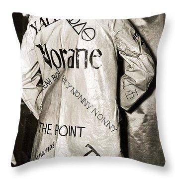 Flippant Flapper Rain Slicker Throw Pillow