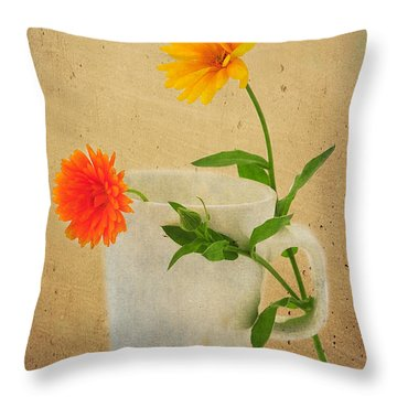 Flirt Throw Pillow by Randi Grace Nilsberg