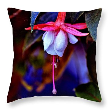 Throw Pillow featuring the photograph Flirtatious Fuschia by Wallaroo Images