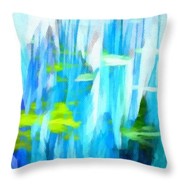 Float 1 Horizontal Throw Pillow by Angelina Vick
