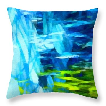 Float 3 Horizontal  Throw Pillow by Angelina Vick