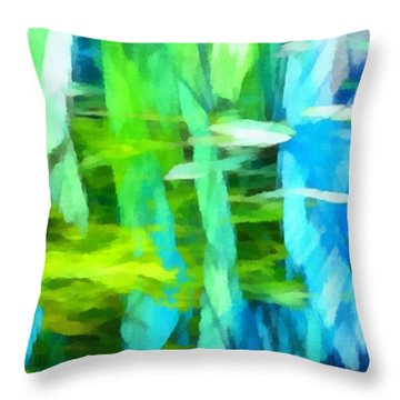 Float 4 Horizontal Throw Pillow by Angelina Vick