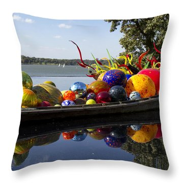 Float Boat Throw Pillow