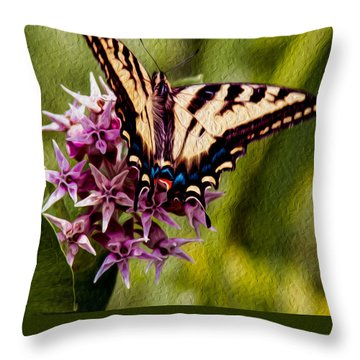 Float Like A Butterfly Throw Pillow