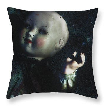 Floating Doll Throw Pillow by Joana Kruse