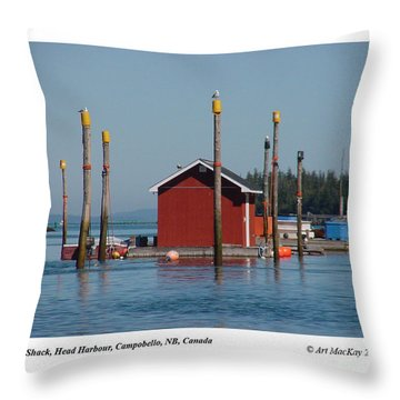 Floating Fish Shack Bay Of Fundy Nb Throw Pillow