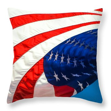 Floating Flag  Throw Pillow
