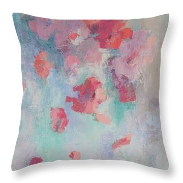 Floating Flowers Painting Throw Pillow