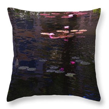 Floating Flowers  Throw Pillow