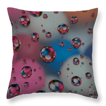 Floating Gum Balls Throw Pillow by Paul Ward