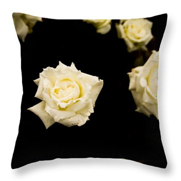 Floating In Darkness Throw Pillow