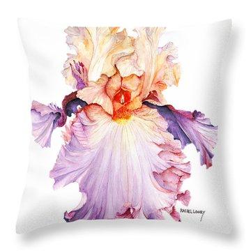 Floating Iris 2 Throw Pillow by Rachel Lowry