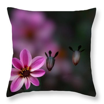 Floating Throw Pillow by Jacqui Boonstra