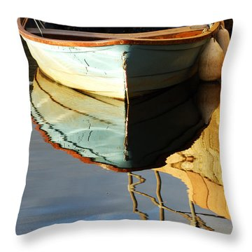 Floating On Blue 4 Throw Pillow