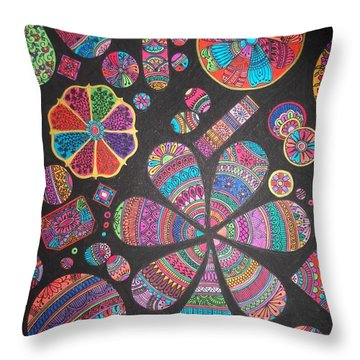 Floating Pebels Throw Pillow by M Ande