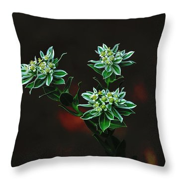 Floating Petals Throw Pillow