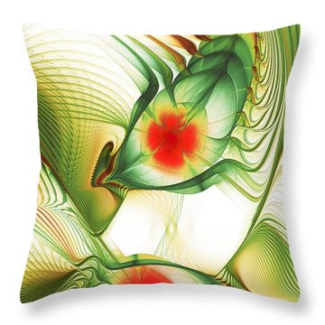 Throw Pillow featuring the digital art Floating Thoughts by Anastasiya Malakhova