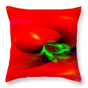 Throw Pillow featuring the digital art Floating Tomato by Hai Pham