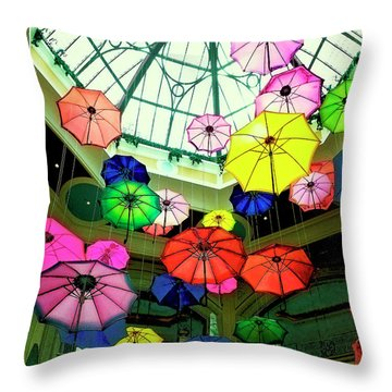 Floating Umbrellas In Las Vegas  Throw Pillow