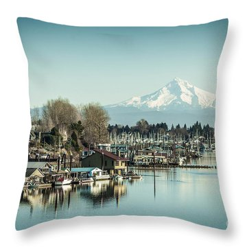 Floating World Throw Pillow by Patricia Babbitt