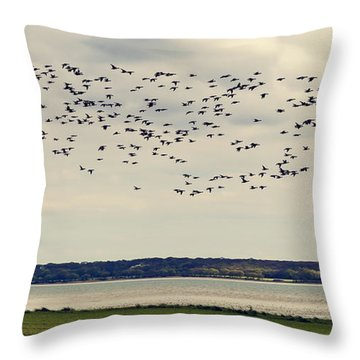 Flock Of Birds Throw Pillow by Svetlana Sewell
