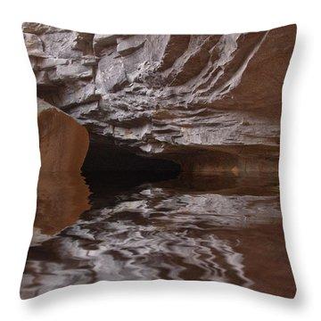 flooded Ohio cave Throw Pillow