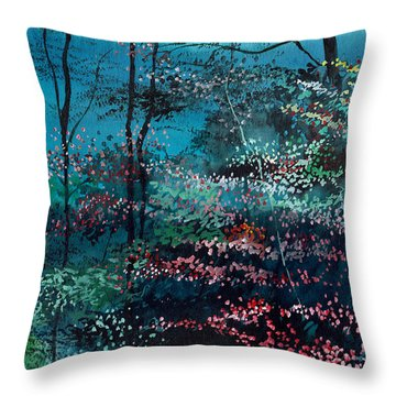 Flora 1 Throw Pillow by Anil Nene