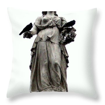 Throw Pillow featuring the photograph Raven's Friend by Salman Ravish