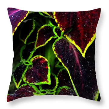 Flora Psychadelica Throw Pillow