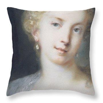 Flora Throw Pillow by Rosalba Giovanna Carriera