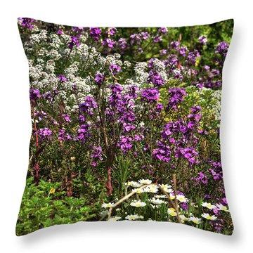 Flora Throw Pillow by Svetlana Sewell
