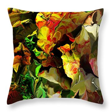 Throw Pillow featuring the digital art Floral 082114 by David Lane