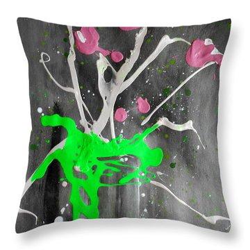 Floral #51 Throw Pillow