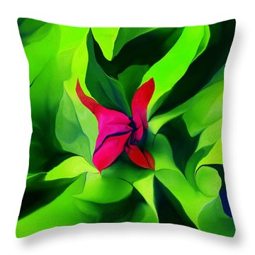 Throw Pillow featuring the digital art Floral Abstract Play by David Lane