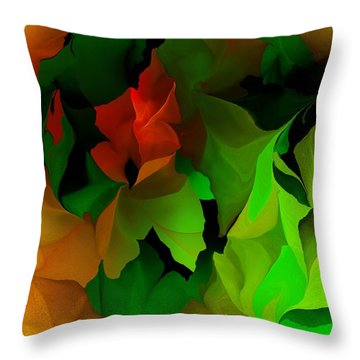 Throw Pillow featuring the digital art Floral Abstraction 090814 by David Lane