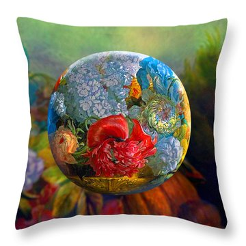 Floral Ambrosia Throw Pillow by Robin Moline