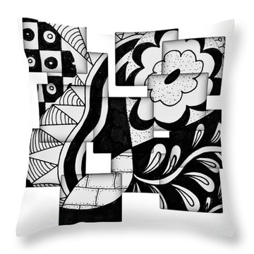 Floral And More Throw Pillow
