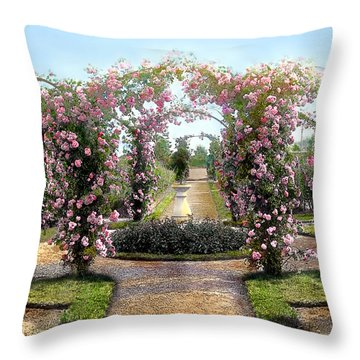 Floral Arch Throw Pillow