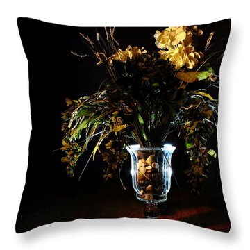 Throw Pillow featuring the photograph Floral Arrangement by David Andersen