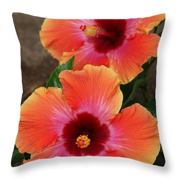 Floral Beauty 2  Throw Pillow by Christy Pooschke