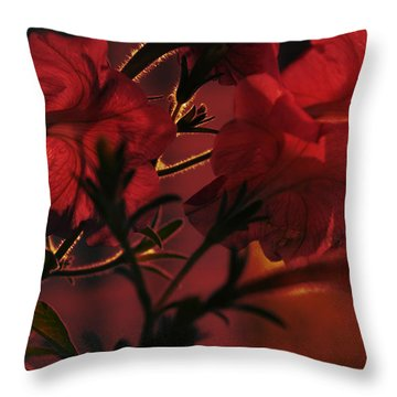 Floral By The Fireplace Textured Throw Pillow