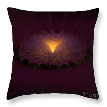 Throw Pillow featuring the digital art Floral Creation by Arlene Sundby