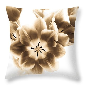 Throw Pillow featuring the photograph Floral Delight by Anita Oakley